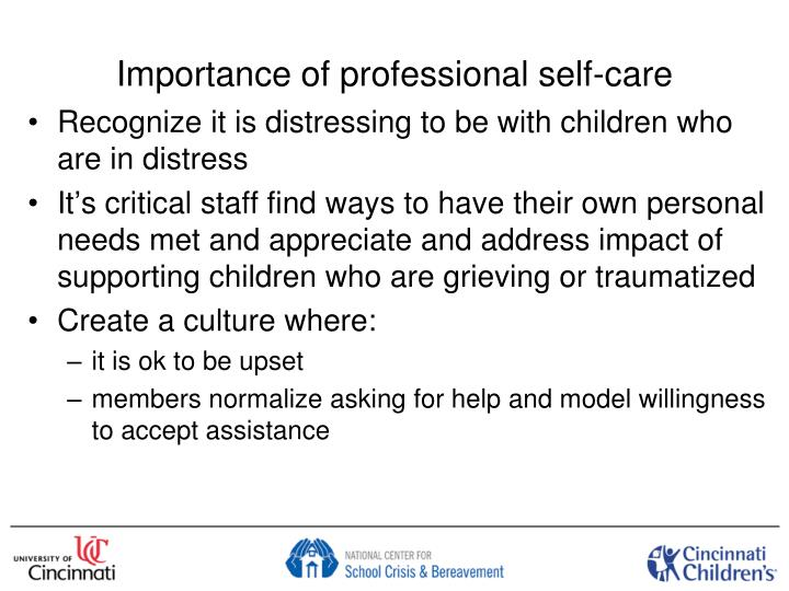 Importance of professional self-care