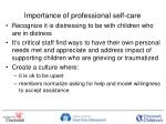 importance of professional self care
