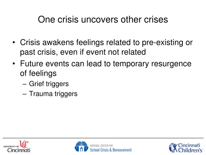 One crisis uncovers other crises