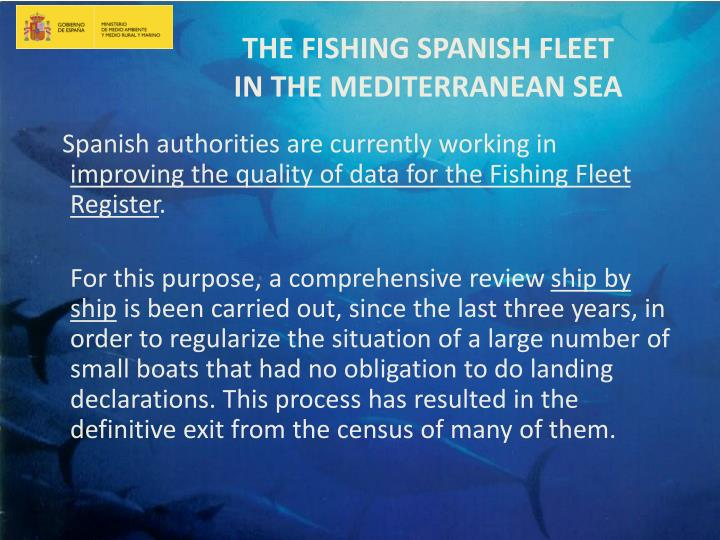 The fishing spanish fleet in the mediterranean sea1