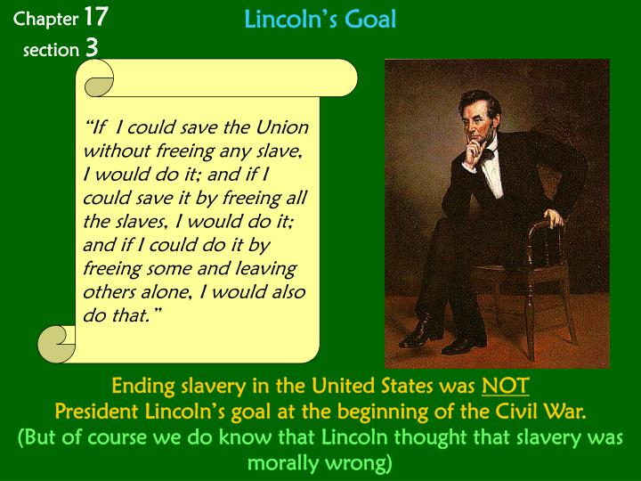 Lincoln's Goal