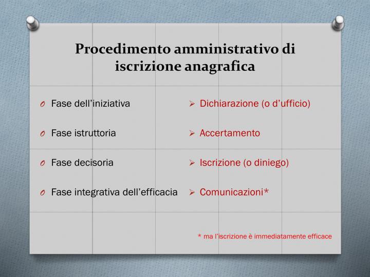 Procedimento amministrativo di