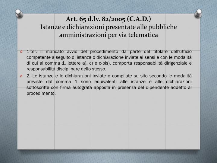 Art. 65 d.lv.