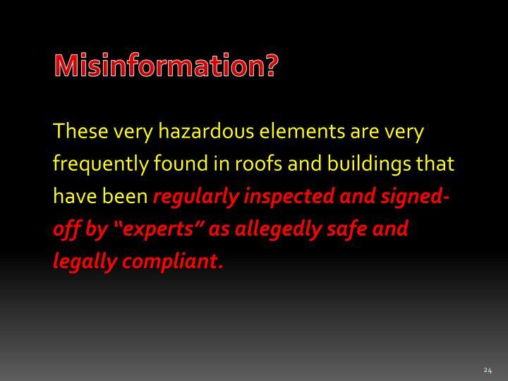 Misinformation?