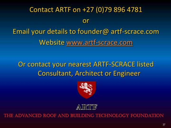 Contact ARTF on +27 (0)79