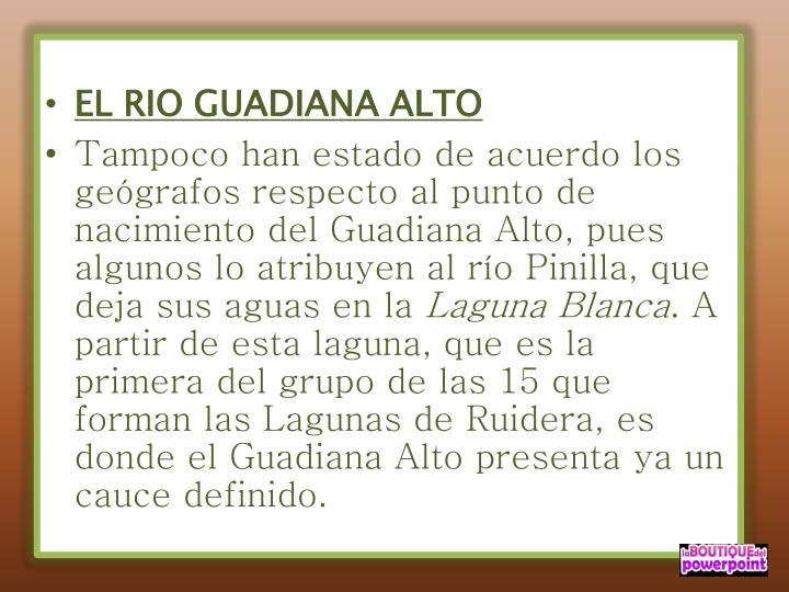 EL RIO GUADIANA ALTO