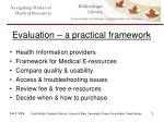 evaluation a practical framework