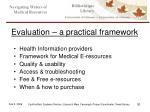evaluation a practical framework1