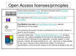 open access licenses principles