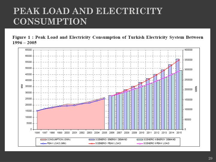 Peak Load and Electricity Consumption
