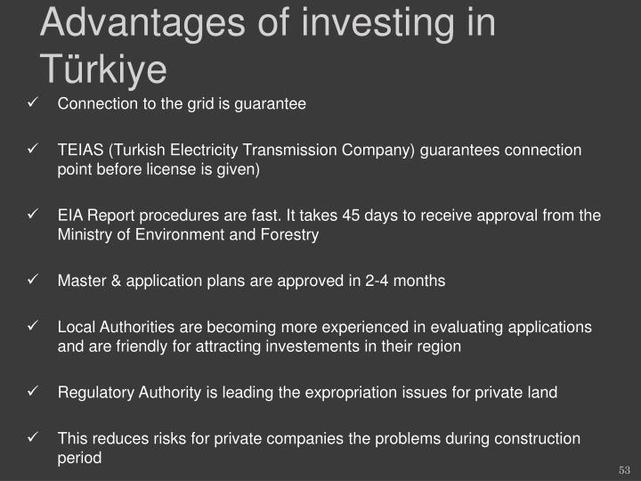 Advantages of investing in T
