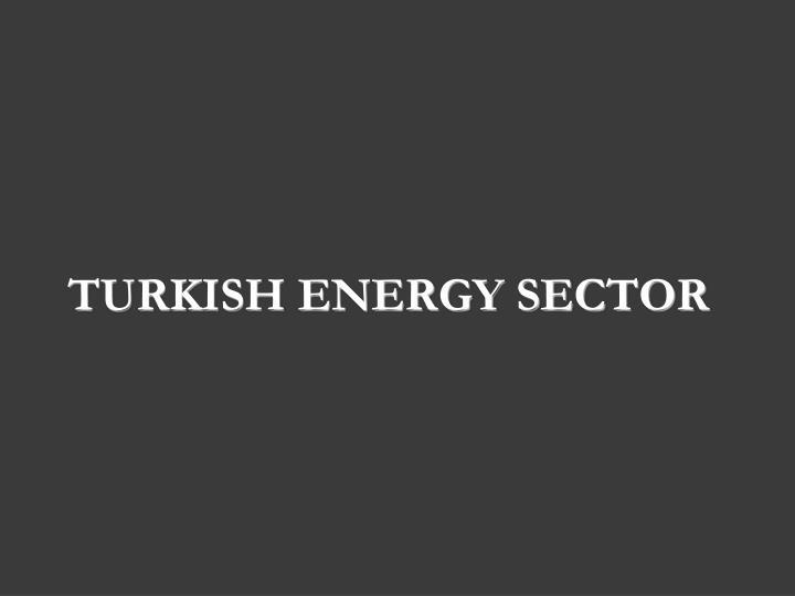Turkish Energy Sector