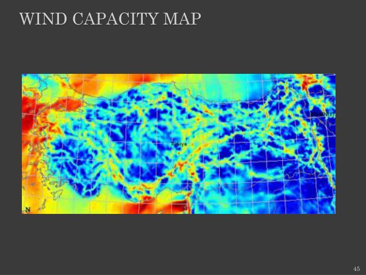 WIND CAPACITY MAP