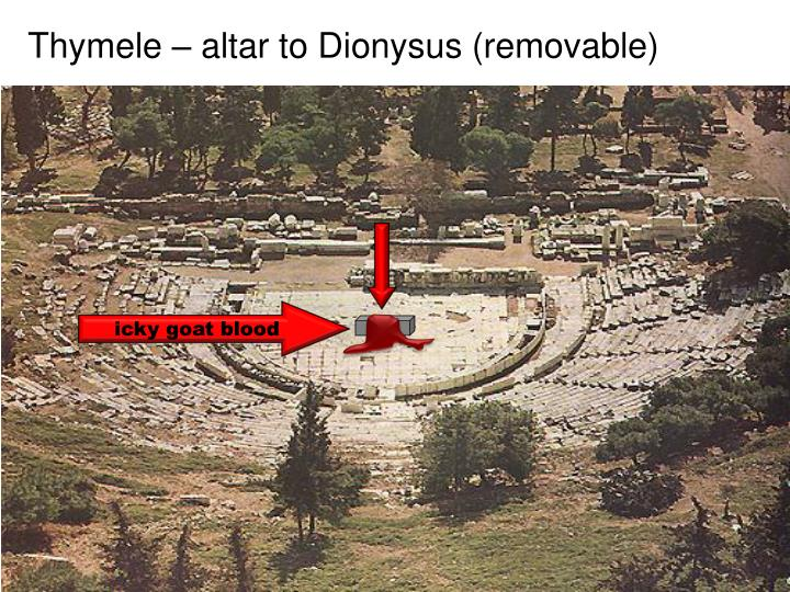 Thymele – altar to Dionysus (removable)