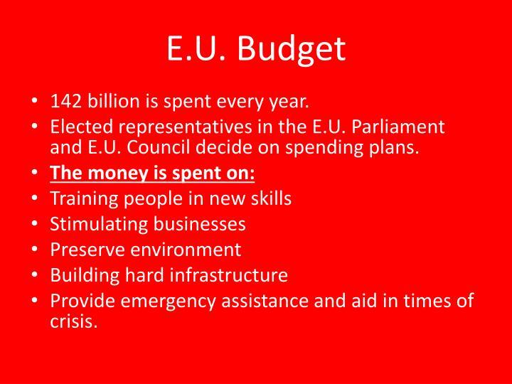 E.U. Budget