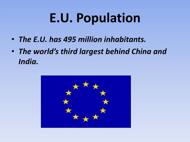 E.U. Population