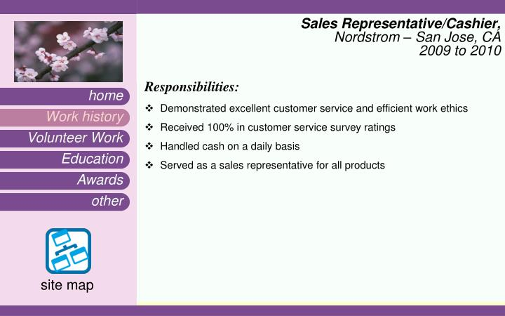 Sales Representative/Cashier,
