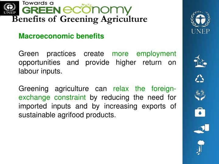 Benefits of Greening Agriculture