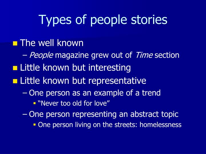 Types of people stories