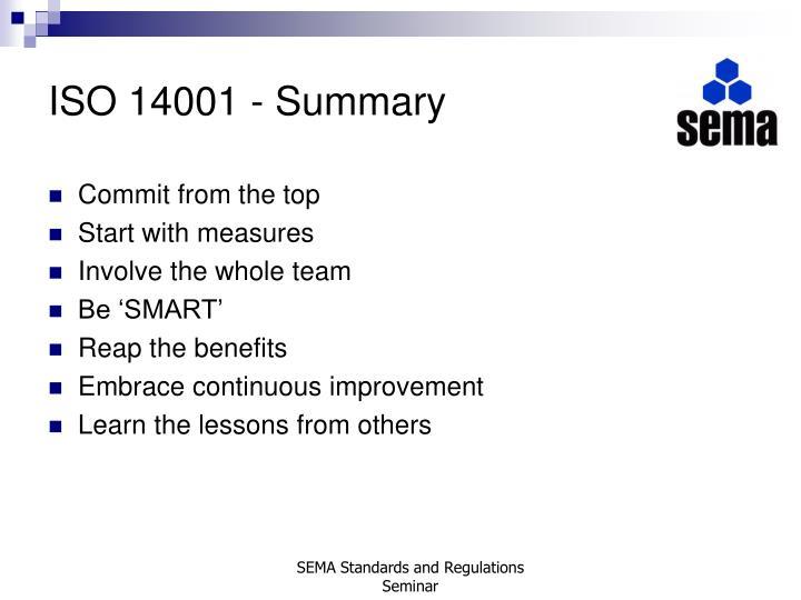 ISO 14001 - Summary