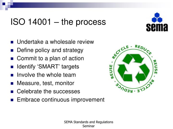 ISO 14001 – the process