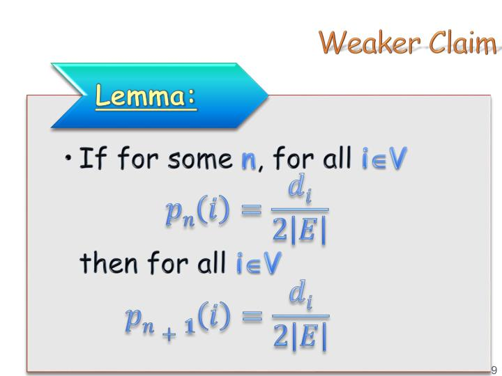 Weaker Claim