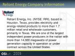 reliant energy company information