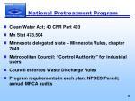 national pretreatment program