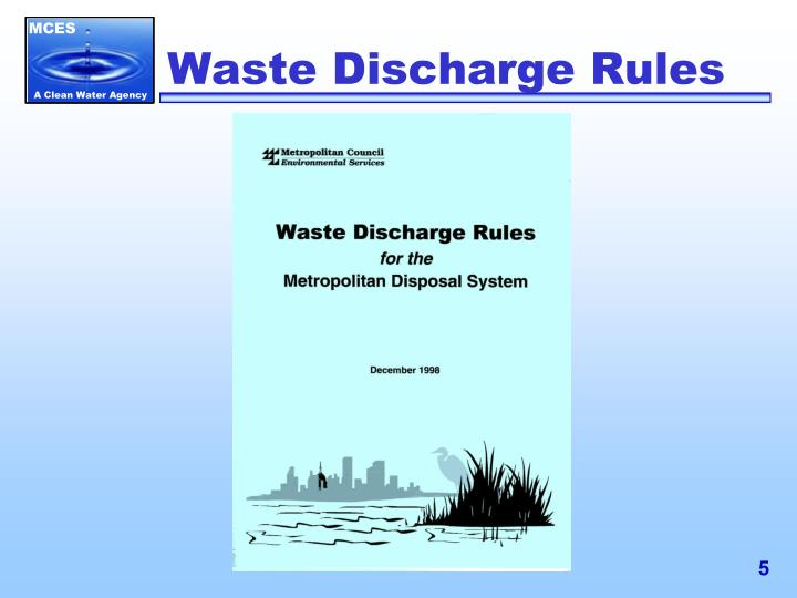 Waste Discharge Rules