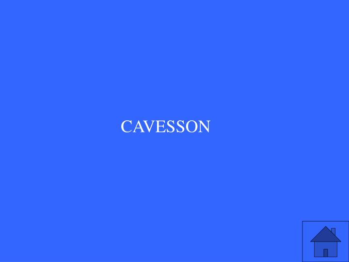 CAVESSON