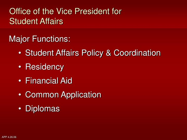 Office of the Vice President for