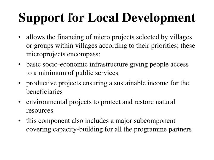 Support for Local Development
