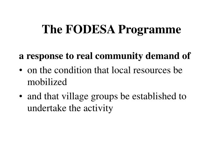 The FODESA Programme
