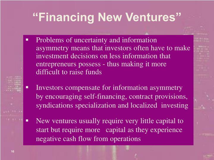 """""""Financing New Ventures"""""""