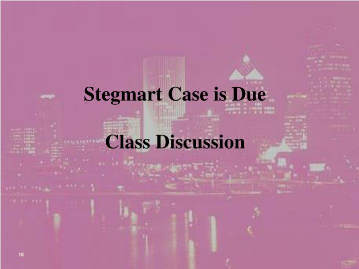Stegmart Case is Due