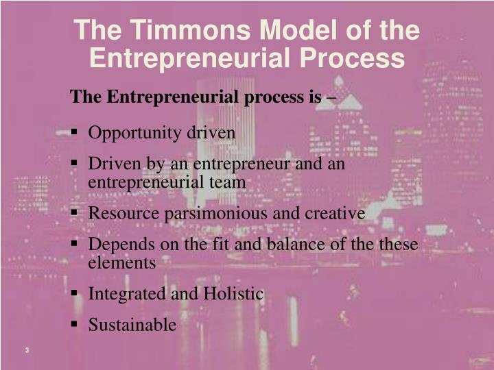 The Timmons Model of the