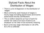 stylized facts about the distribution of wages
