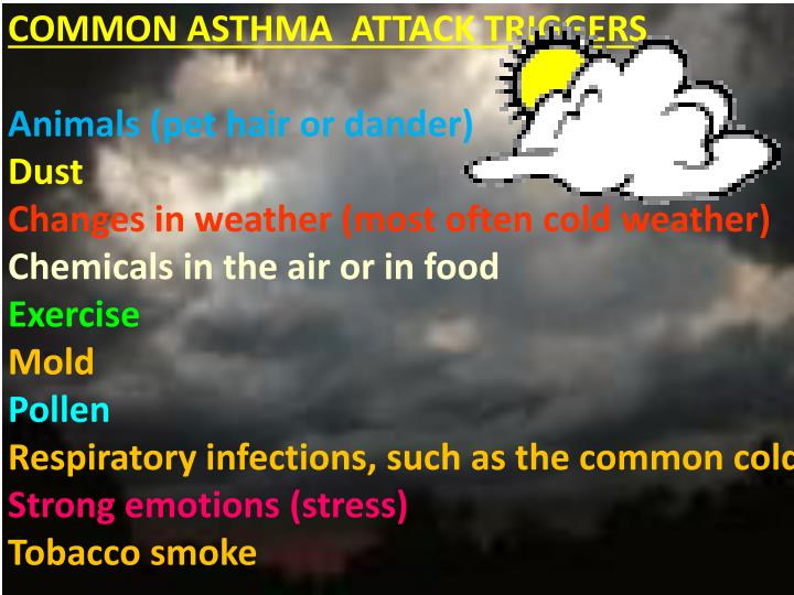COMMON ASTHMA  ATTACK TRIGGERS