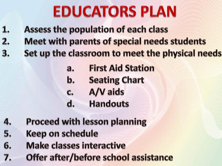 EDUCATORS PLAN