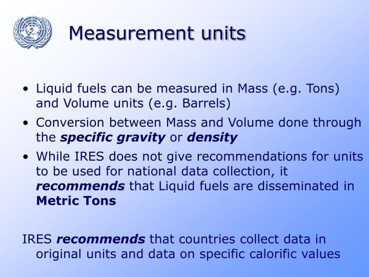 Measurement units