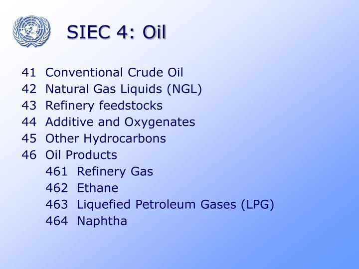 SIEC 4: Oil