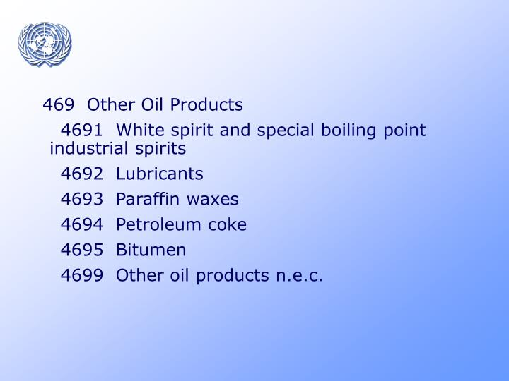 469  Other Oil Products