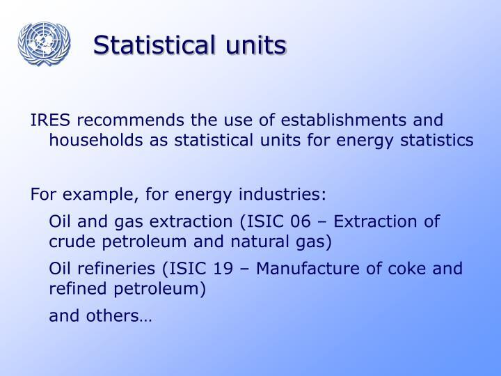 Statistical units