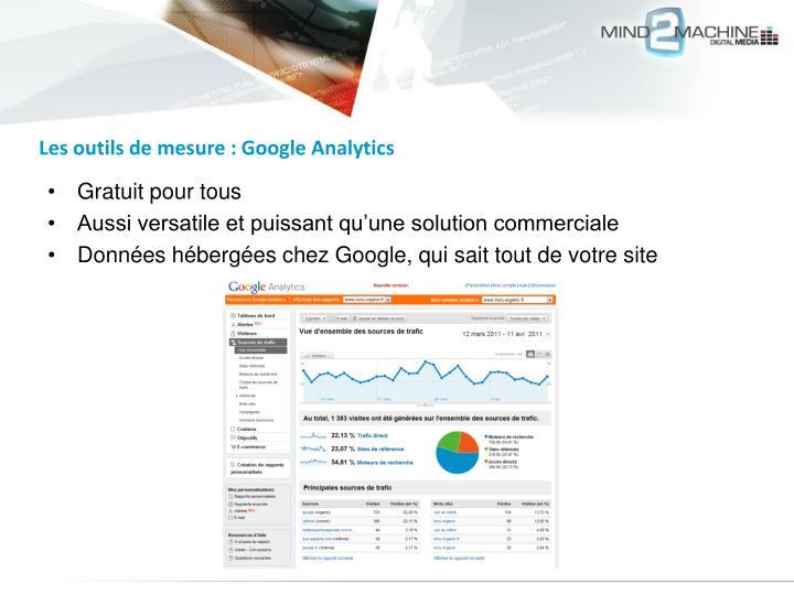 Les outils de mesure : Google Analytics