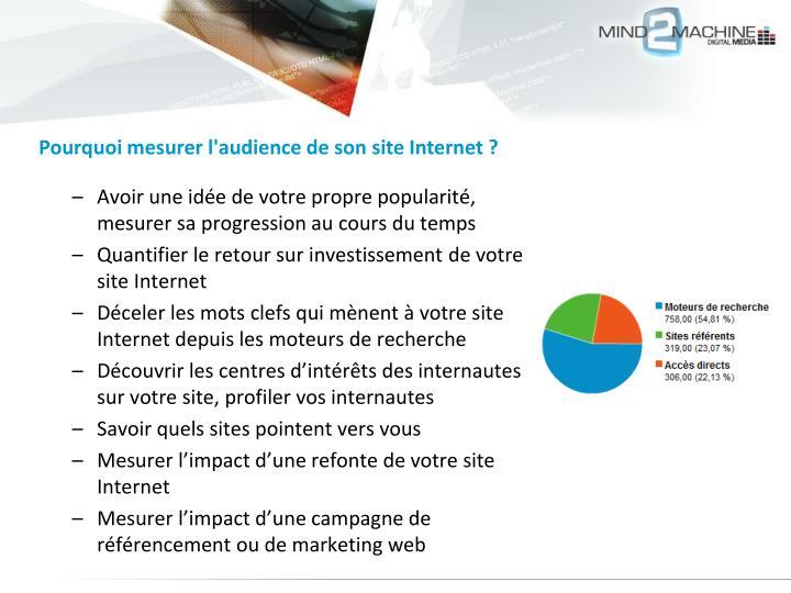 Pourquoi mesurer l'audience de son site Internet ?