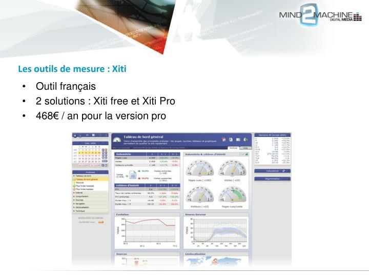 Les outils de mesure : Xiti