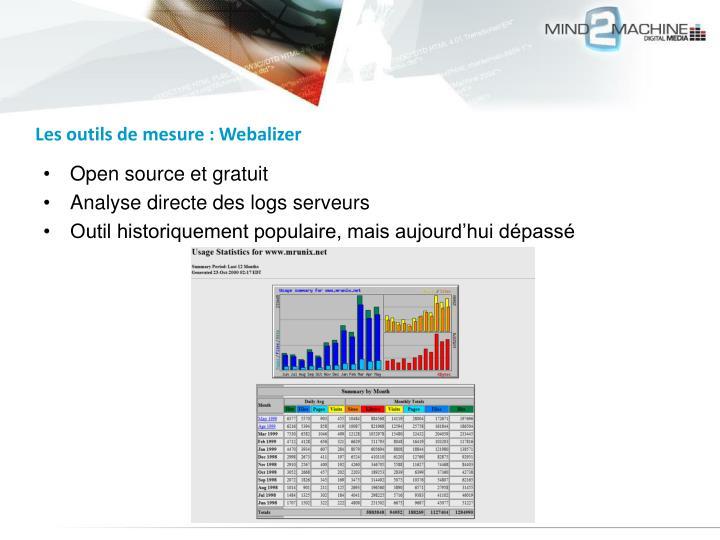 Les outils de mesure : Webalizer