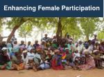 enhancing female participation
