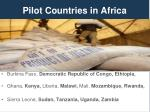 pilot countries in africa