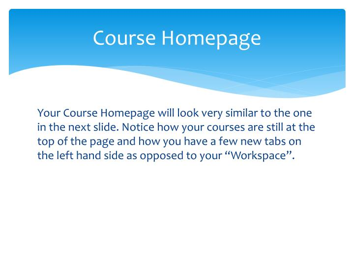 Course Homepage